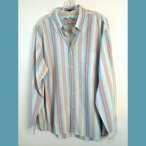 Men's NWT Alan Flusser Striped LS Shirt Sz XL